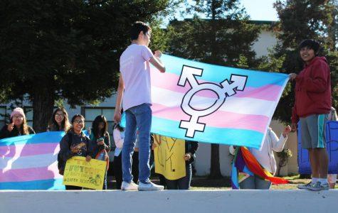 GSA Club Holds Transgender Rally